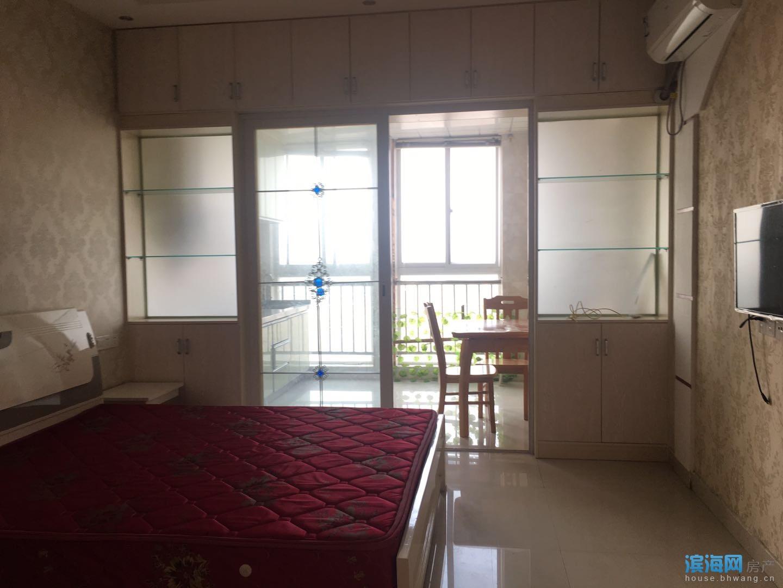 出租 坎北滨河湾公寓 一室一厅 1100元/月 拎包入住